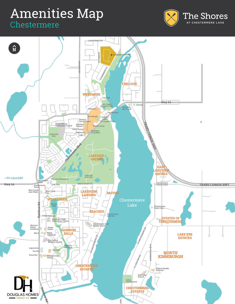 The Shores at Chestermere Lake Amenities Map