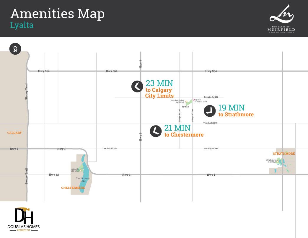 Lakes of Muirfield Amenities Map
