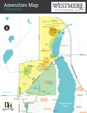 Westmere at Chestermere Lake Amenities Map