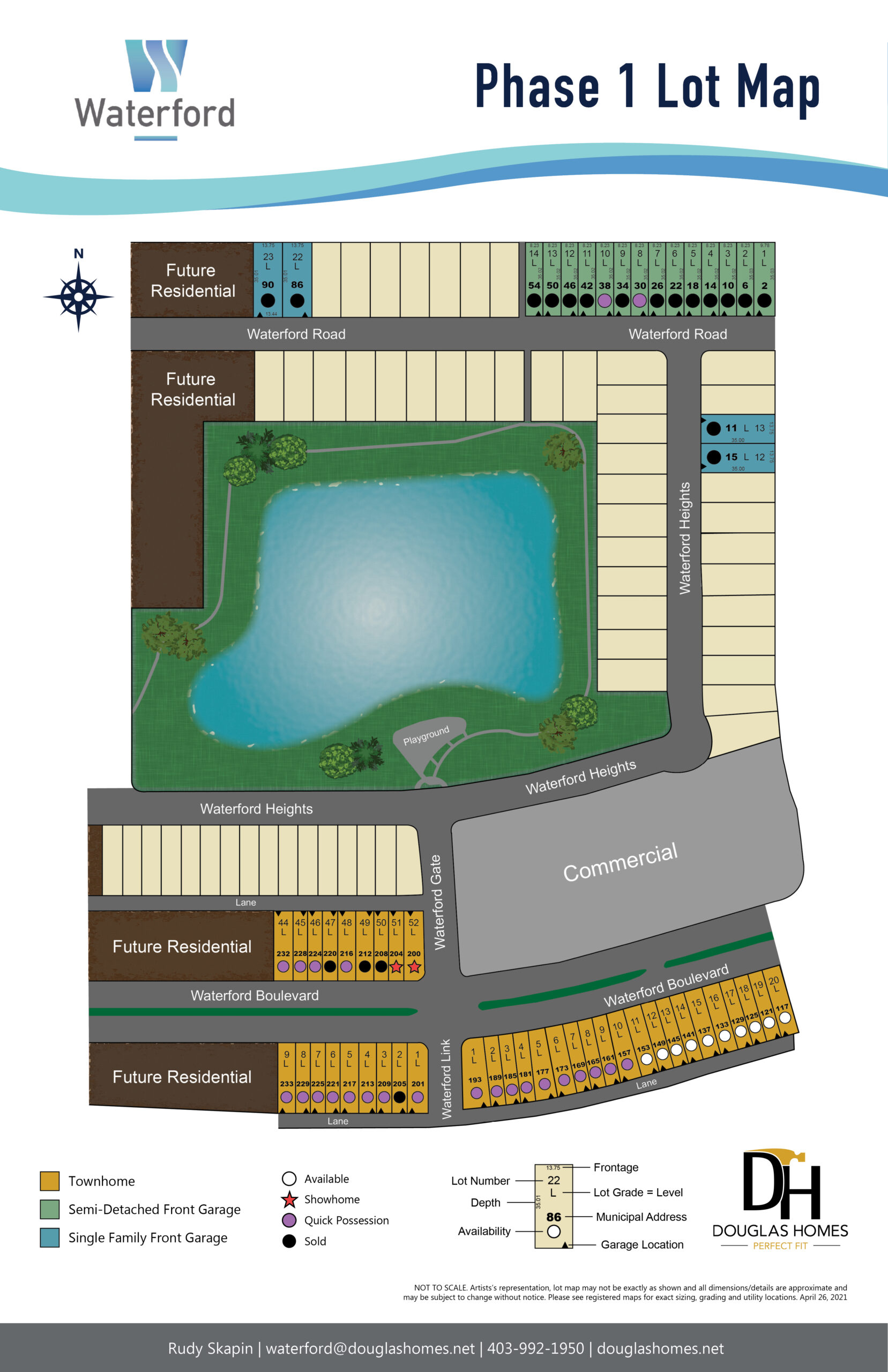 Waterford Lot Map